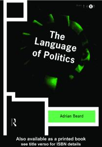 The Language of Politics (Intertext)