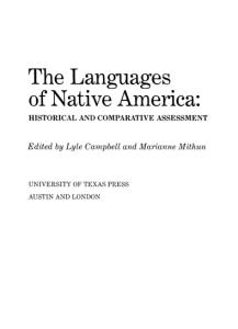 The Languages of Native America: Historical and Comparative Assessment