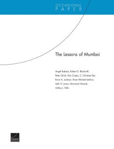 The Lessons of Mumbai (Occasional Paper (Rand Corporation))