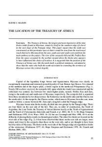 The Location of the treasury of Atreus