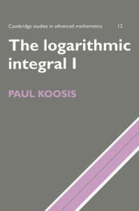 The logarithmic integral 1