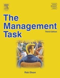 The Management Task, Third Edition (CMI Open Learning Programme)
