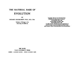 The Material Basis of Evolution