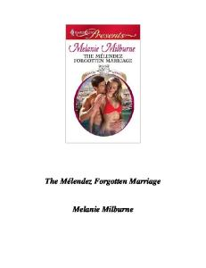 The Melendez Forgotten Marriage (Harlequin Presents) - PDF Free Download