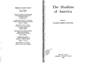 The Muslims of America (Religion in America)