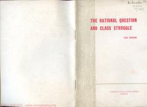 The national question and class struggle