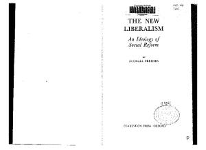 The New Liberalism: An Ideology of Social Reform