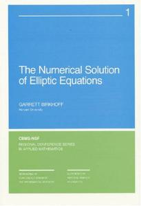 The numerical solution of elliptic equations
