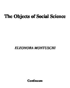 The Objects of Social Science