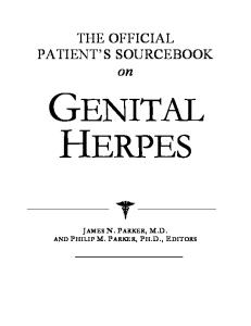 The Official Patient's Sourcebook on Genital Herpes: A Revised and Updated Directory for the Internet Age