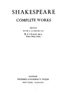 The Oxford Shakespeare: The Complete Works 2nd Edition