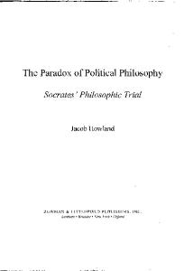 The Paradox of Political Philosophy