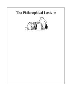 The Philosophical Lexicon