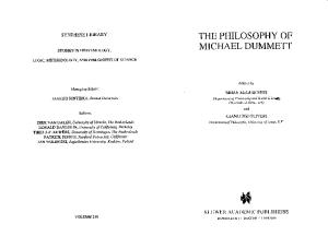 The Philosophy of Michael Dummett (Synthese Library, 239)