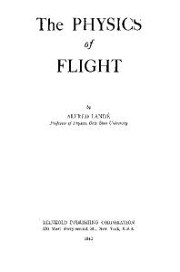 The Physics of Flight