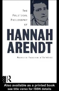 The Political Philosophy of Hannah Arendt: OPR