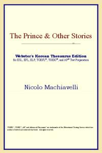 The Prince & Other Stories (Webster's Korean Thesaurus Edition)