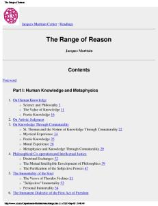 The range of reason