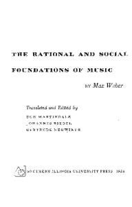 The Rational and Social Foundations of Music