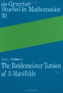 The Reidemeister Torsion of 3-Manifolds