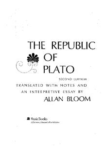 The Republic Of Plato:
