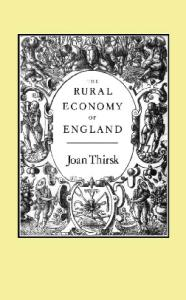 The Rural Economy of England
