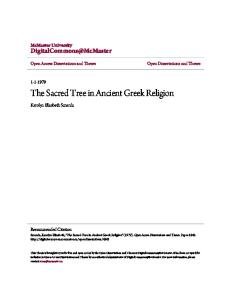 The Sacred Tree in Ancient Greek Religion