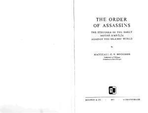 The Secret Order of Assassins: The Struggle of the Early Nizârî Ismâʻîlîs Against the Islamic World