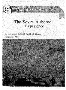 The Soviet Airborne Experience
