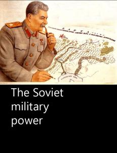 The Soviet military power