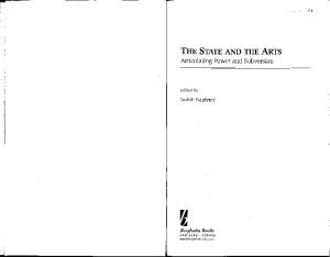 The State and the Arts: Aestheticizing State Power