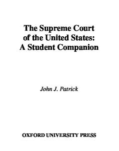 The Supreme Court of the United States: A Student Companion, 2nd edition (Oxford Student Companions to American Government)