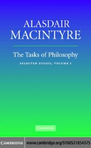 The Tasks of Philosophy: Volume 1: Selected Essays