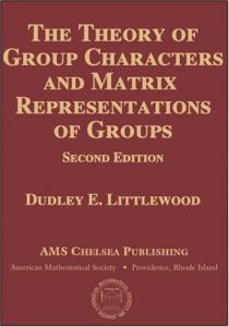 The theory of group characters and matrix representations of groups