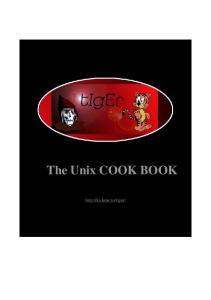 The Unix Cook Book