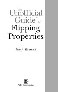 The Unofficial Guide to Flipping Properties (Unofficial Guides)