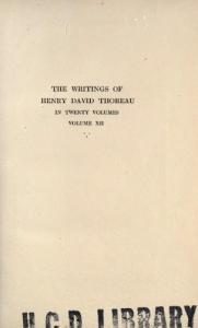 The Writings of Henry David Thoreau in 20 Volumes