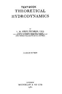 Theoretical Hydrodynamics, 4th Ed