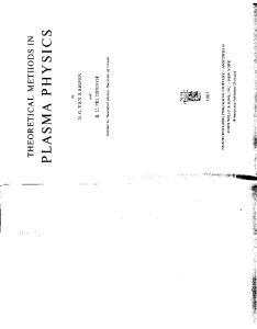 theoretical methods in plasma physics
