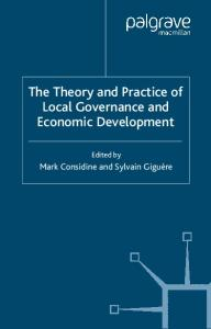 Theory and Practice of Local Governance and Economic Development
