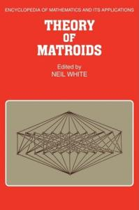 Theory of matroids