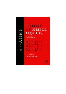 Theory of Simple Liquids, Third Edition