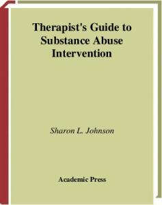 Therapist's Guide to Substance Abuse Intervention (Practical Resources for the Mental Health Professional) (Practical Resources for the Mental Health Professional)