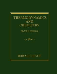 Thermodynamics and Chemistry (2nd edition)