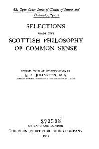 Thomas Reid, Selections from the Scottish Philosophy of Common Sense
