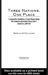 Three Nations, One Place (Native Americans--Interdisciplinary Perspectives)