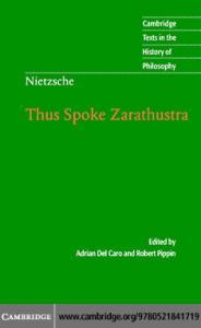 Thus Spoke Zarathustra (Cambridge Texts in the History of Philosophy)