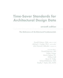Time-Saver Standards for Architectural Design Data