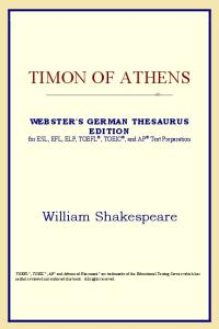 Timon of Athens (Webster's German Thesaurus Edition)