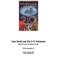 Tom Swift and His 3-D Telejector (Book 24 in the Tom Swift Jr series)